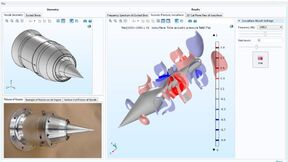 Simulation app built by undergraduate students Iliana Albion-Poles and Jeffrey Severino. Their work is supported by the Connecticut Space Grant for Faculty Research. The app predicts the appearance of tones in a dual stream 4-strut nozzle for jet engines.