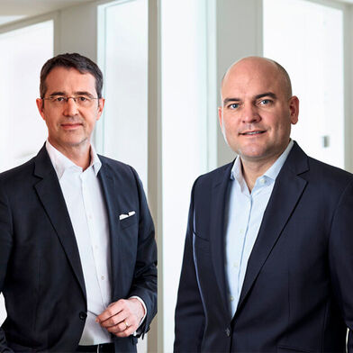 Jan Dannenberg (left), Partner, and Tobias Keil, Principal at Berylls Strategy Advisors, talk about the situation of automotive suppliers.