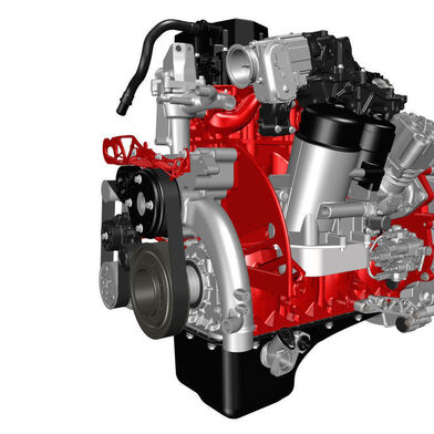 The 3D printing process could make future engines considerably lighter. The five-litre diesel engine designed by Renault Trucks saves 120 kilograms. The picture shows parts that can be produced additive.